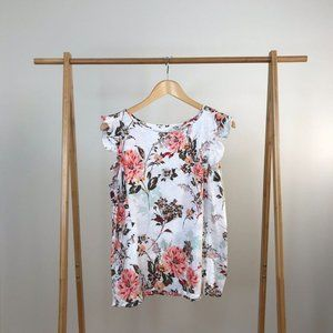 Loft • Vintage Soft Floral Short Sleeve Tee Large